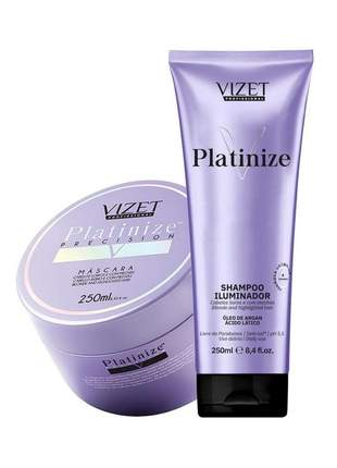 Kit platinize home care shampoo + máscara