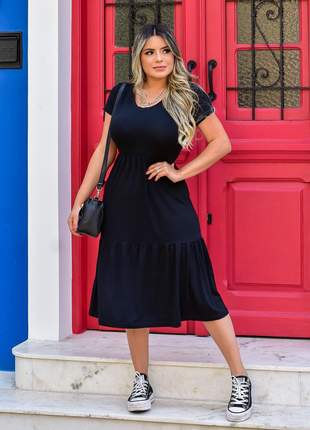 Vestido mid elegante