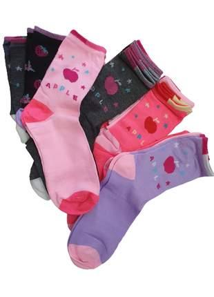 Kit 12 meias adulto feminino 36 ao 40