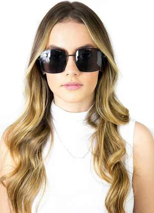 Óculos de sol quadrado feminino  retro uv400