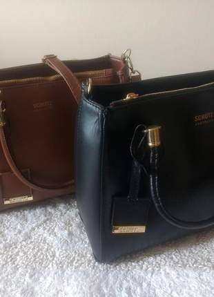Bolsa com duas alças em couro sintético