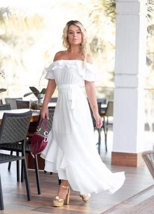 Vestido princesa off coleção cor e conforto