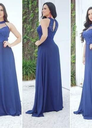 Vestido longo barato plus festa mãe noivos madrinha azul casamento noite brilho aniver