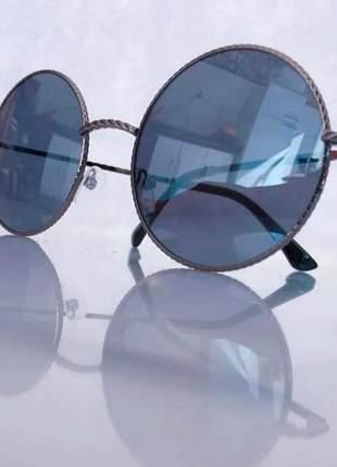 Óculos de  sol feminino redondo blogueira