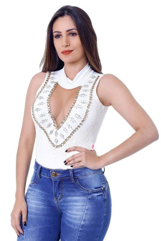 5050d1eee Body feminino zigma anita off-white - R  114.99 (com renda