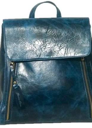 Bolsa mochila de couro legítimo
