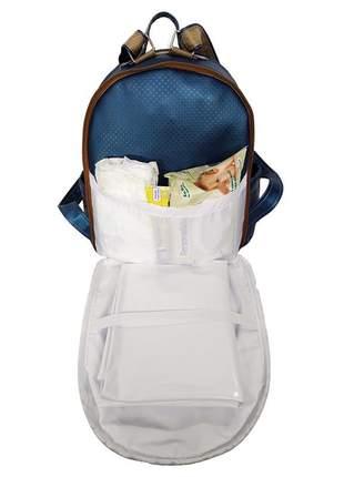 Mochila maternidade bebe menina menino miellu + trocador 2pçs azul marinho