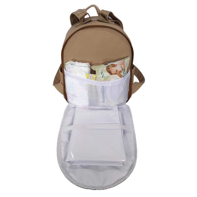 MIELLU BOLSAS / Mochila maternidade bebe menina menino miellu + trocador 2pçs bege