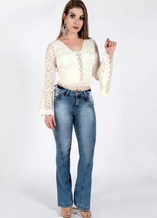 Calça jeans zigma flare levanta bumbum cod-509