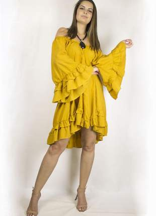 Vestido dress code mostarda