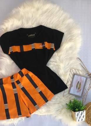 Conjunto verão short e camisa