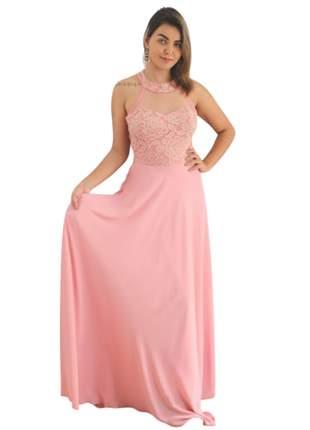 Vestido plus size de festa longo rosa madrinha de casamento brilho noiva rosa wedding