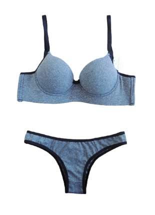 Conjunto lingerie básico reforçado plus size - intima divina