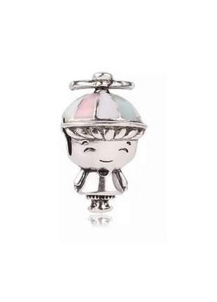 Berloque charm criança para pulseira bracelete compatível com pandora vivara