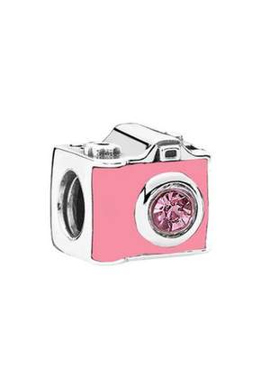 Berloque charm câmera charm compatível com bracelete pandora ou vivara