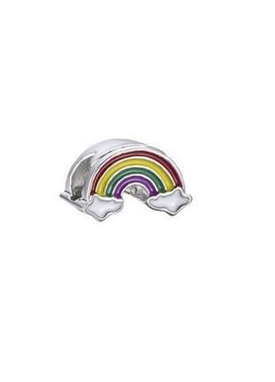 Charm berloque modelo arco iris compatível com pulseira vivara ou pandora