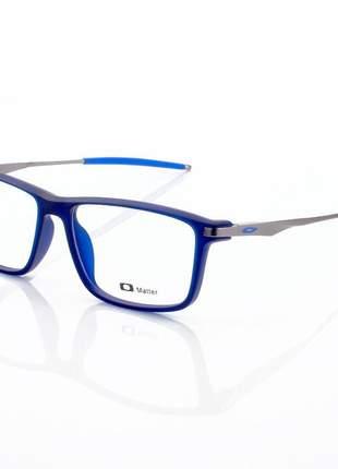 Armacao de óculos retangular oakley cobalt ox3218 toda azul