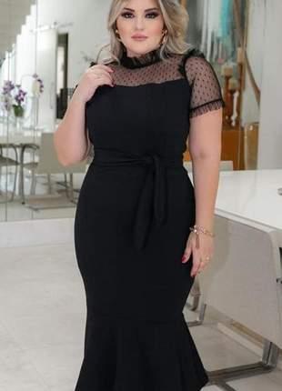 Vestido tubinho sereia midi moda evangélica