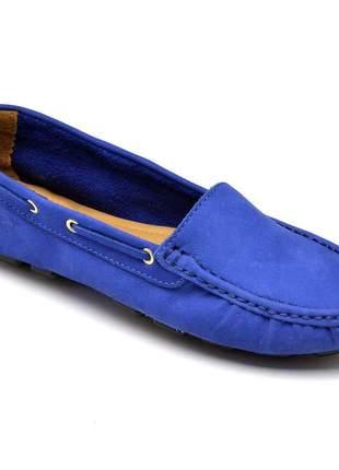 Mocassim feminino azul