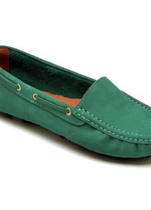 Mocassim feminino verde