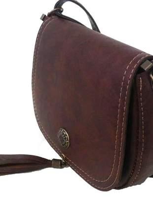 2d37a62a1 Bolsa canady á tiracolo café pequena - R$ 43.90 (artesanal, com alça ...