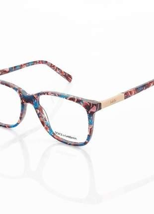 Armacao de óculos quadrada dolce & gabbana dg6104 colorido