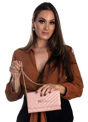 Bolsa feminina metalasse rosa