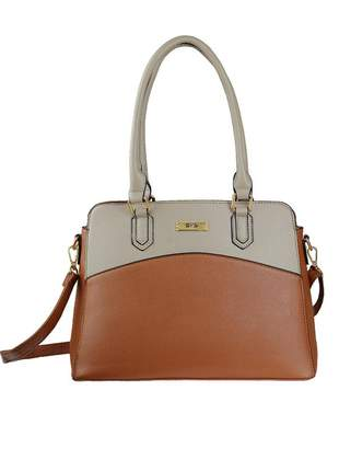 Bolsa feminina couro alça de mão e transversal r:1027