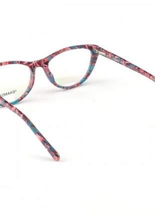 Armação de óculos gatinho chanel x3288 colorido
