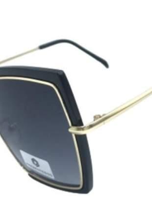 Óculos de sol feminino chic  estiloso degradê grande pg295