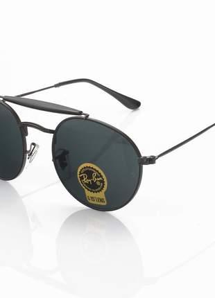 Óculos de sol ray-ban rb3747 redondo todo preto