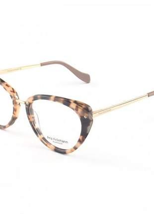 Oculos armação para grau gatinho ah - creme tartaruga