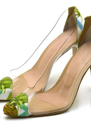 Sapato conforto  scarpin salto alto fino