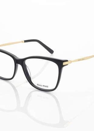 Armação de óculos quadrado miu miu vmu01m preto