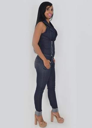 Macacão longo cavado vybora jeans