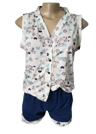 Pijama short doll com regata