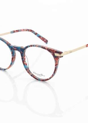 Armação de óculos redondo dior 201 montaigne colorido