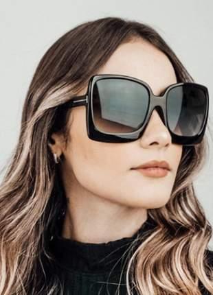 Óculos de sol feminino grande quadrado degradê vlw