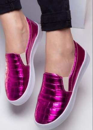 Slip on metalizado pink