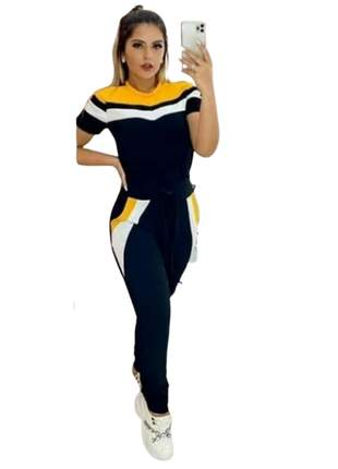 Conjunto calca e blusa moda office lazer festa conforto pronta entrega manguinha