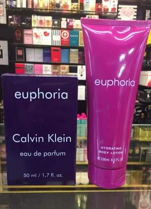 Kit hidratante + perfume euphoria importado