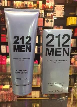 Kit hidratante + perfume 212 men importado