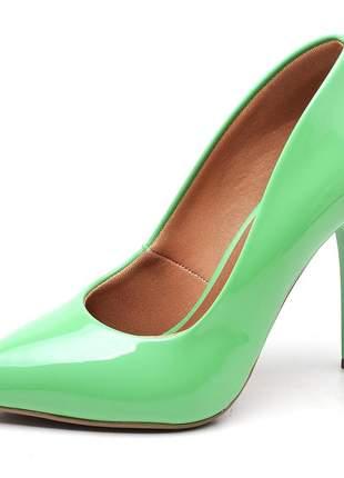 Sapato scarpin feminino verde menda salto alto fino 11 cm