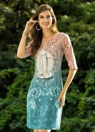 Vestido nossa senhora de fátima - coleção ágape