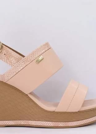 Sandália anabela feminino casual super leve confortável