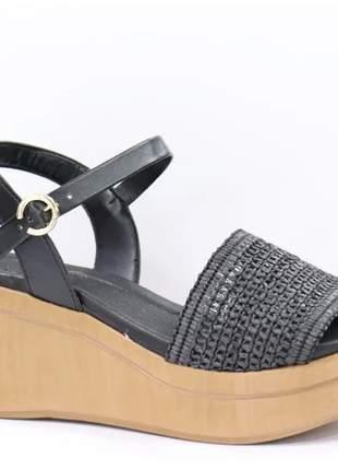 Sandália anabela feminina  casual despojada leve