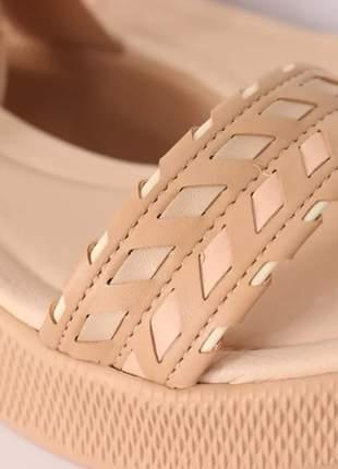 Anabela azaleia  feminino casual sandália leve
