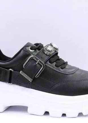 Tênis feminino chunky sneaker casual pedraria vizzano