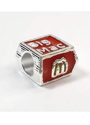 Berloque big mac spired mac donalds charm compatível com bracelete pandora vivara