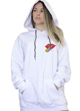 Casaco canguru branco feminino beyourself 008